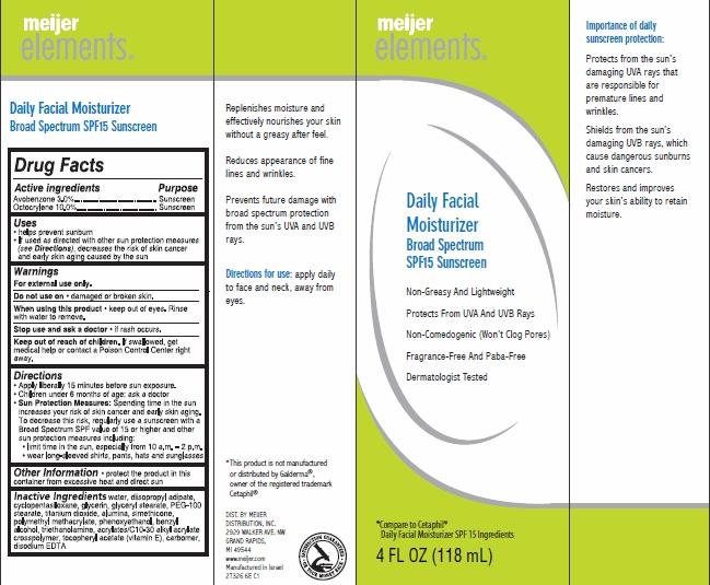 Meijer Elements Daily Facial Moisturizer (Avobenzone, Octocrylene) Cream [Meijer Distribution Inc]