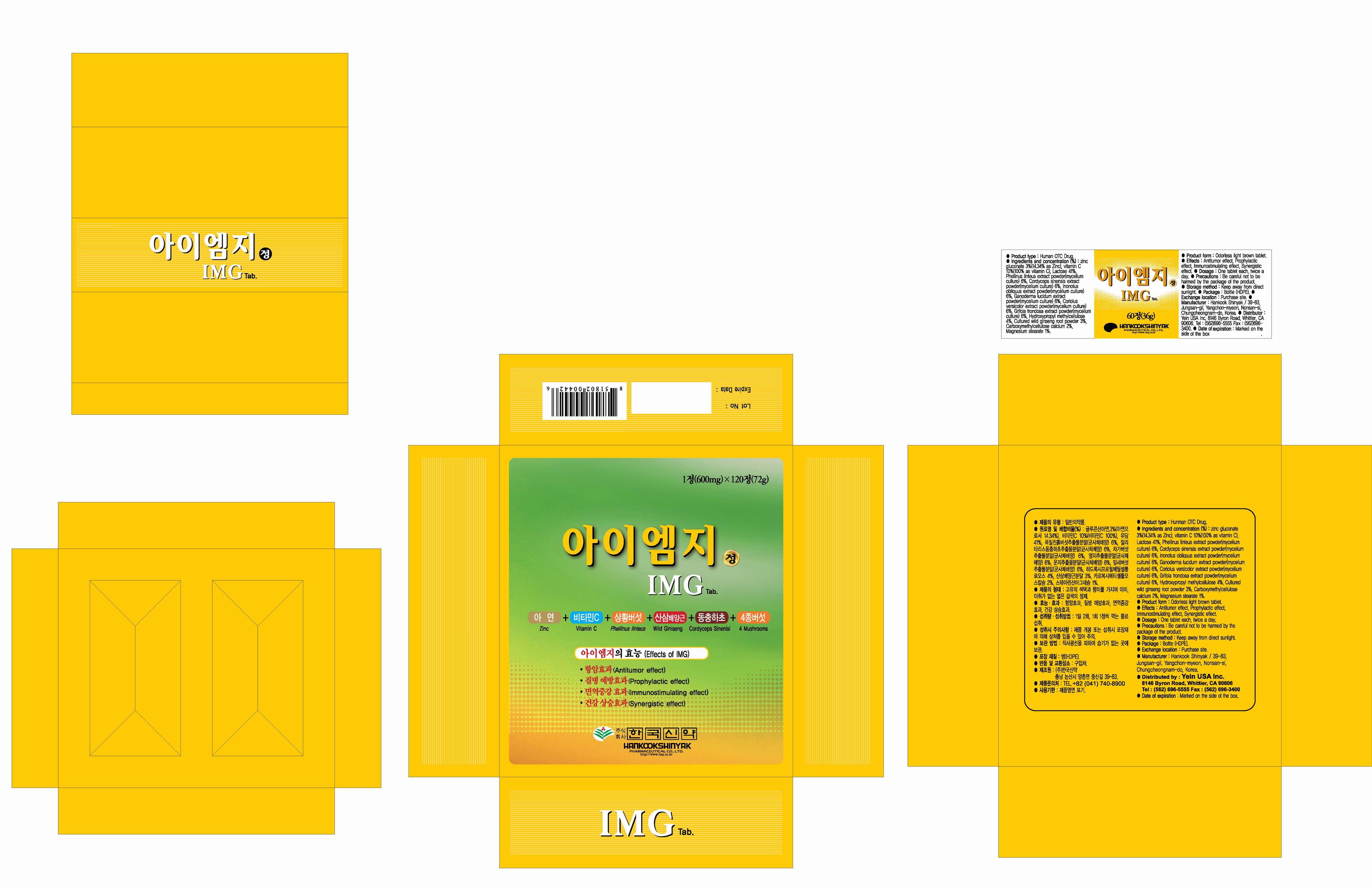 Img (Phellinus Linteus Mycelium) Tablet [Yein Trading & Global Co., Ltd]