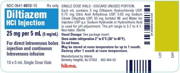 Diltiazem Hydrochloride Injection [West-ward Pharmaceutical Corp.]
