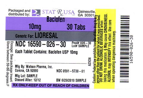 BACLOFEN 10MG LABEL IMAGE