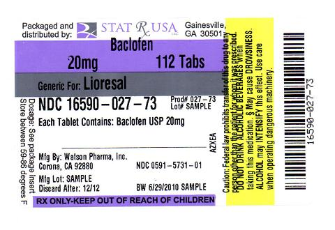 BACLOFEN 20MG LABEL IMAGE