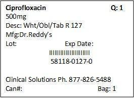 Ciprofloxacin Tablet, Film Coated [Clinical Solutions Wholesale]