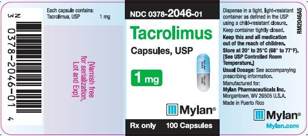 Tacrolimus Capsules, USP 0.5 mg Bottle Label