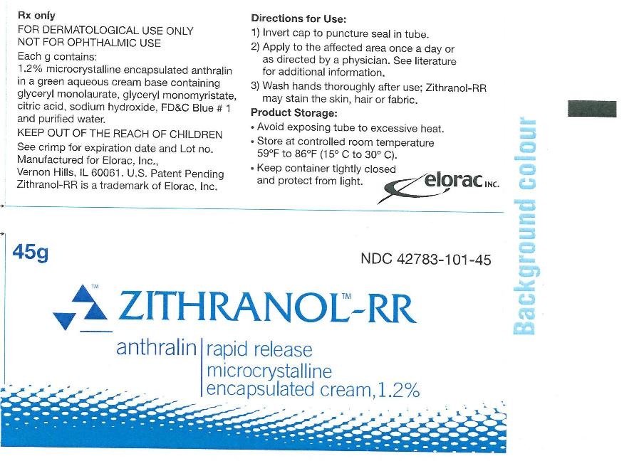 Zithranol-RR microcrystalline encapsulated cream, 1.2% Container Label