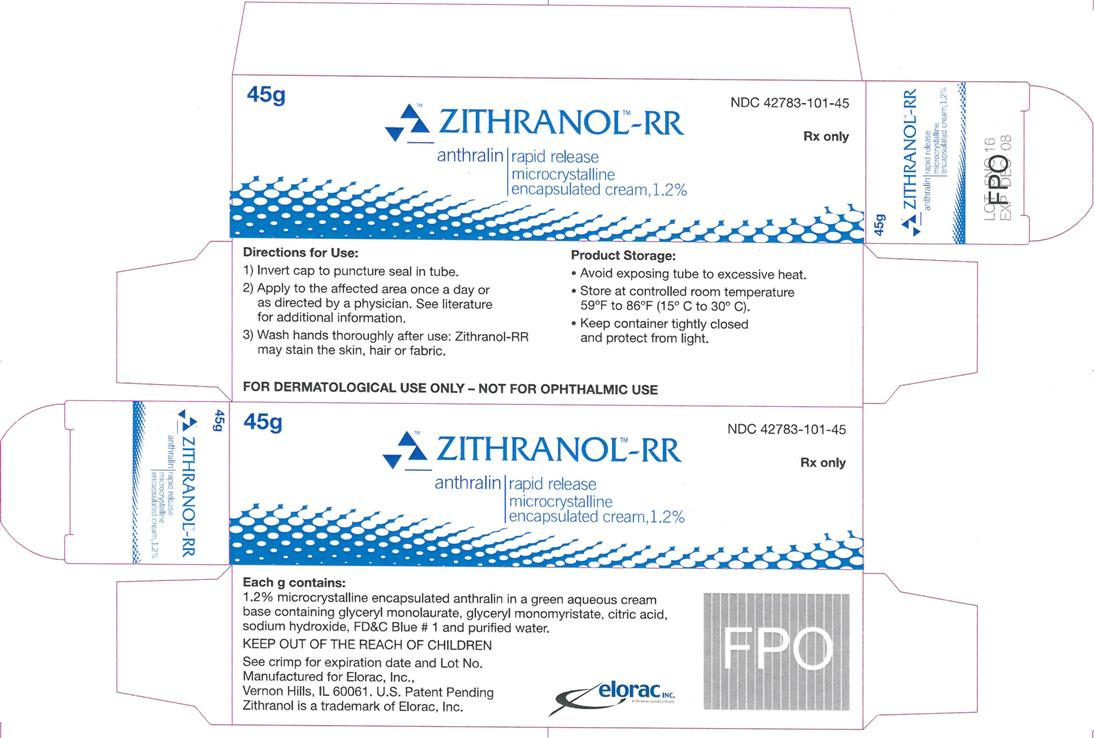 Zithranol-RR Microcrystalline encapsulated cream, 1.2% Carton Label