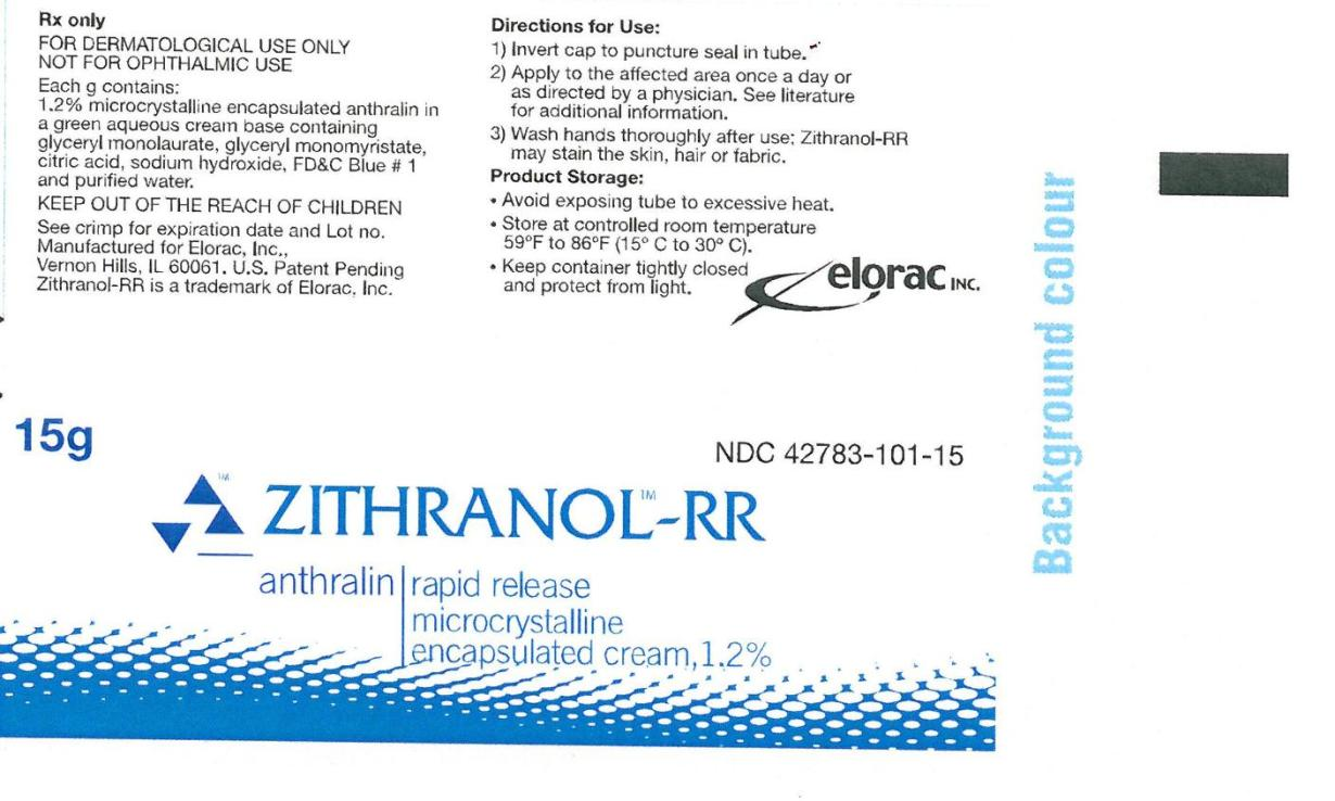 ZITHRANOL-RR Microcrystalline encapsulated cream, 1.2% 15 g Container Label