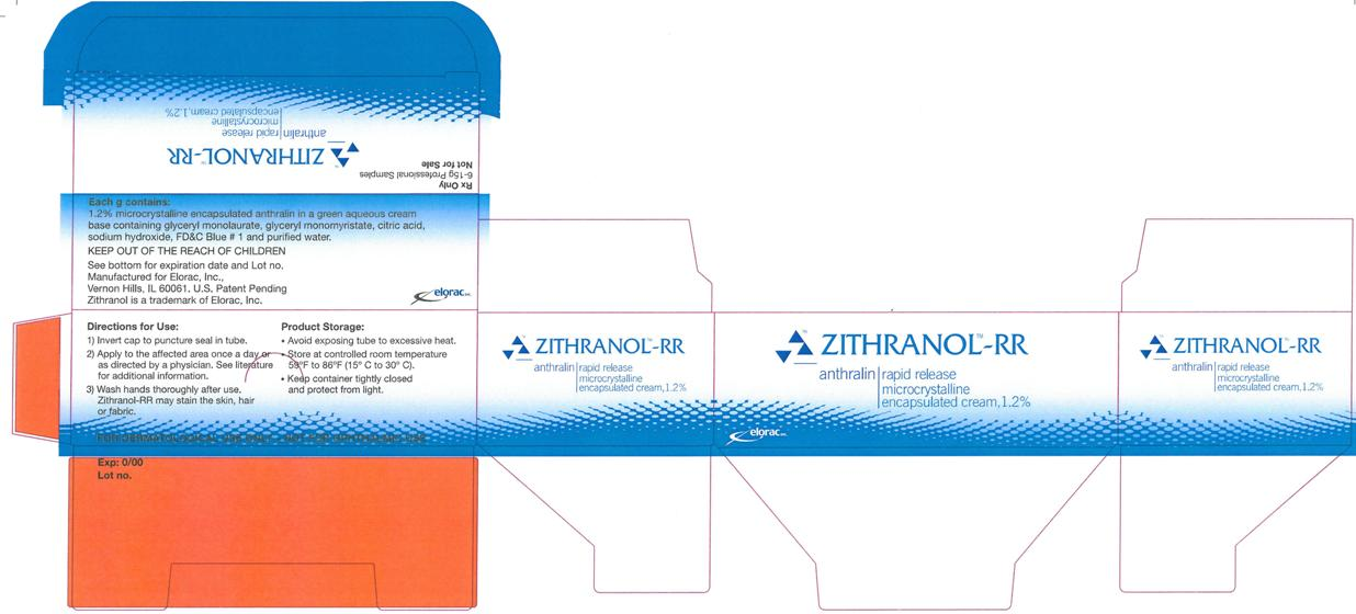 ZITHRANOL-RR Microcrystalline encapsulated cream, 1.2% 15 g Carton Label