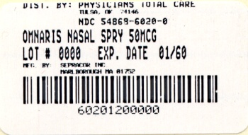 image of 50 mcg package label