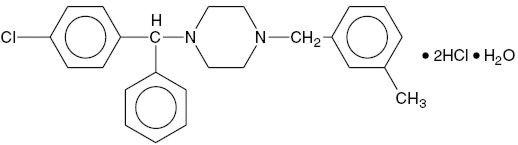 Meclizine Hydrochloride, USP Structural Formula