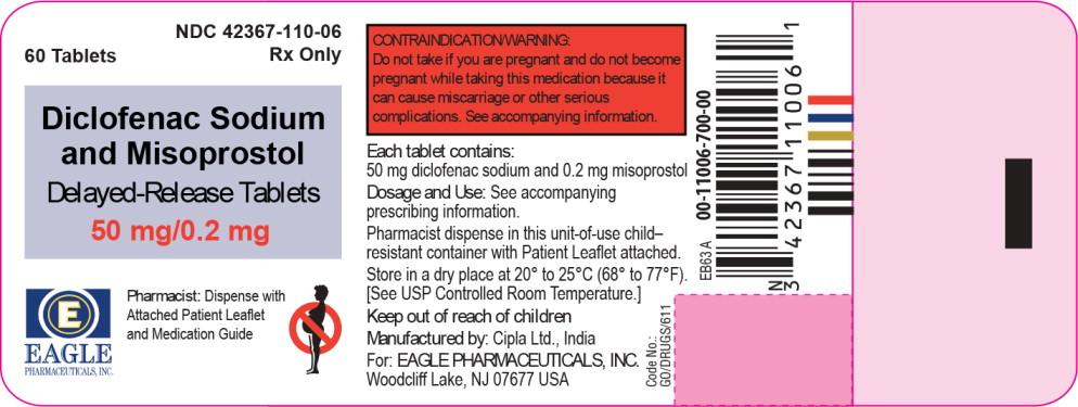 Diclofenac Sodium And Misoprostol Delayed-release (Diclofenac Sodium And Misoprostol) Tablet, Delayed Release [Eagle Pharmaceuticals, Inc.]