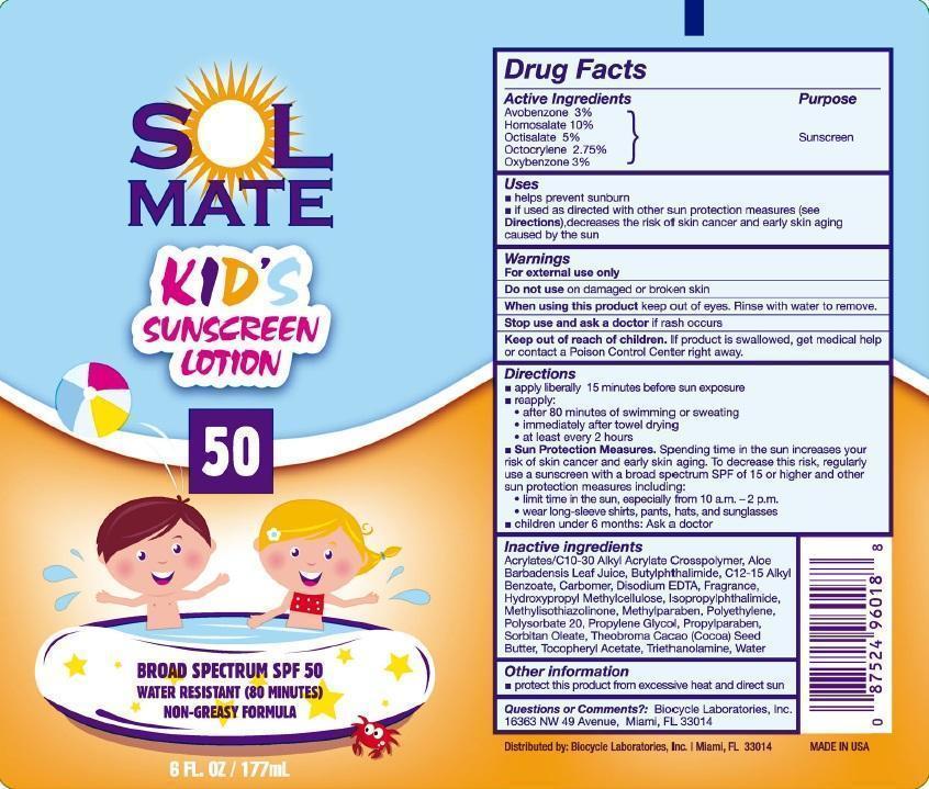 Solmate Kids Broad Spectrum Spf 50 (Avobenzone, Homosalate, Octisalate, Octocrylene, And Oxybenzone) Lotion [Prime Enterprises, Inc.]
