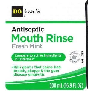 Antispetic (Eucalyptol, Menthol, Methyl Salicylate, Thymol) Mouthwash [Dolgencorp,llc]