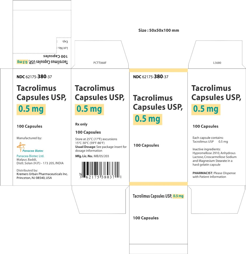 0.5 mg 100s Carton Label