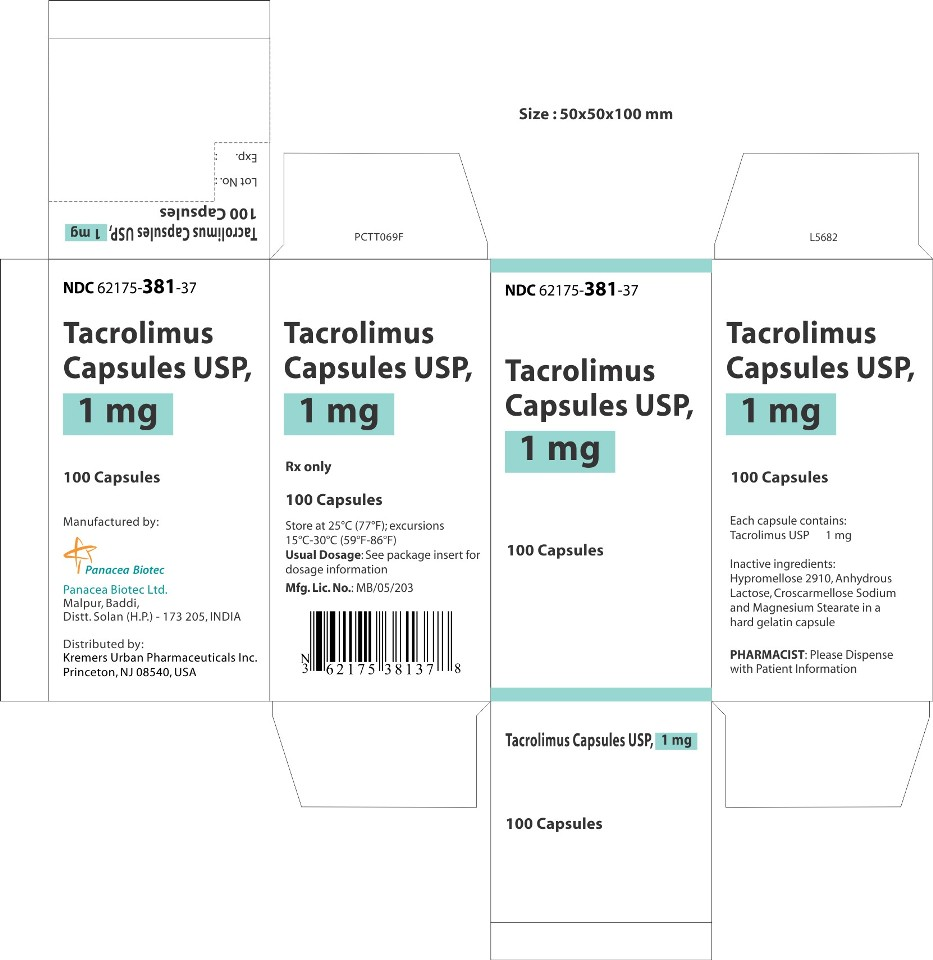 1 mg 100s Carton Label