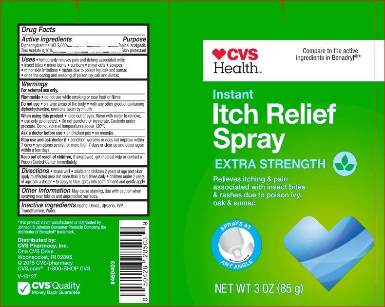 Instant Itch Relief Cvs (Diphenhydramine Hci 2.00% Zinc Acetate 0.10%) Spray [Cvs]