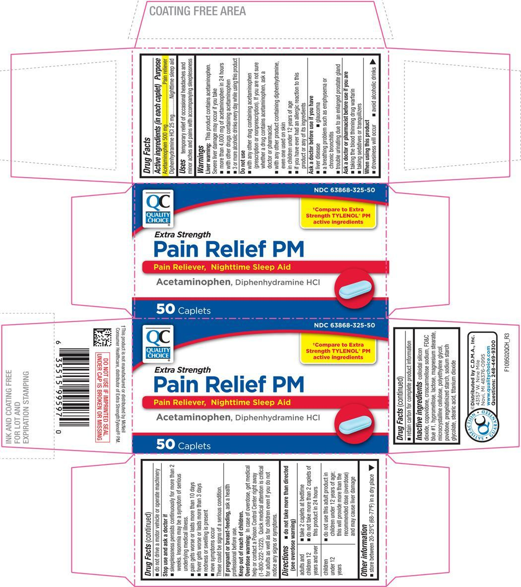 Pain Relief Pm Extra Strength (Acetaminophen And Diphenhydramine Hydrochloride) Tablet, Coated [Chain Drug Marketing Association]