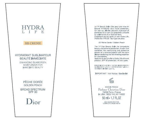 Cd Hydralife Bb Creme Enhancing Sunscreen Moisturizer For Immediate Beauty Golden Peach Broad Spectrum Spf 30 (Octinoxate, Oxybenzone, Titanium Dioxide) Cream [Parfums Christian Dior]