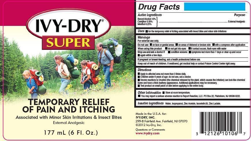 Ivy-dry Super (Benzyl Alcohol, Camphor, Menthol) Spray [Ivy-dry, Inc.]