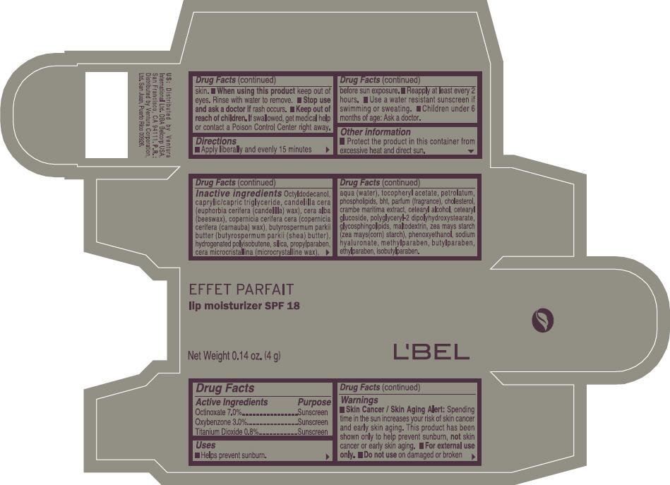 Lbel Lip Moisturizer Spf 18 (Octinoxate, Oxybenzone, And Titanium Dioxide) Lipstick [Ventura Corporation Ltd]