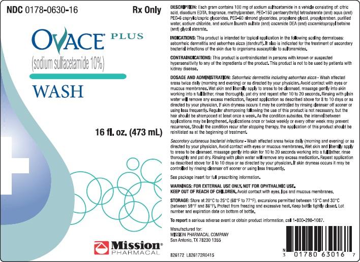 Ovace Plus (Sodium Sulfacetamide) Liquid [Mission Pharmacal Company]