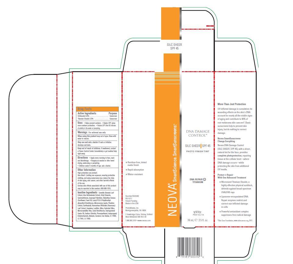 Neova Dna Damage Control – Silc Sheer Spf 45 (Octinoxate, Titanium Dioxide) Emulsion [Photomedex, Inc.]