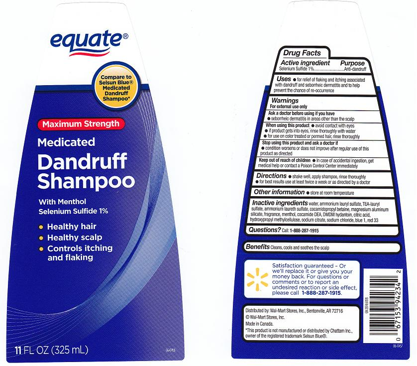 Medicated Dandruff (Selenium Sulfide) Shampoo [Wal-mart Stores Inc]