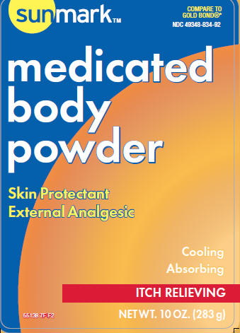 Medicated Body (Menthol, Zinc Oxide) Powder [Mckesson]