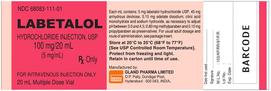 Labetalol Hydrochloride (Labetalol Hydrochloride ) Injection, Solution [Gland Pharma Limited ]