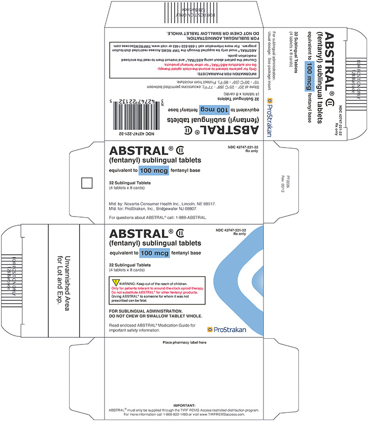 Abstral (Fentanyl) Tablet [Prostrakan, Inc.]