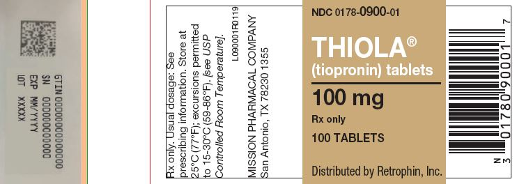 Thiola (Tiopronin) Tablet, Sugar Coated [Mission Pharmacal Company]