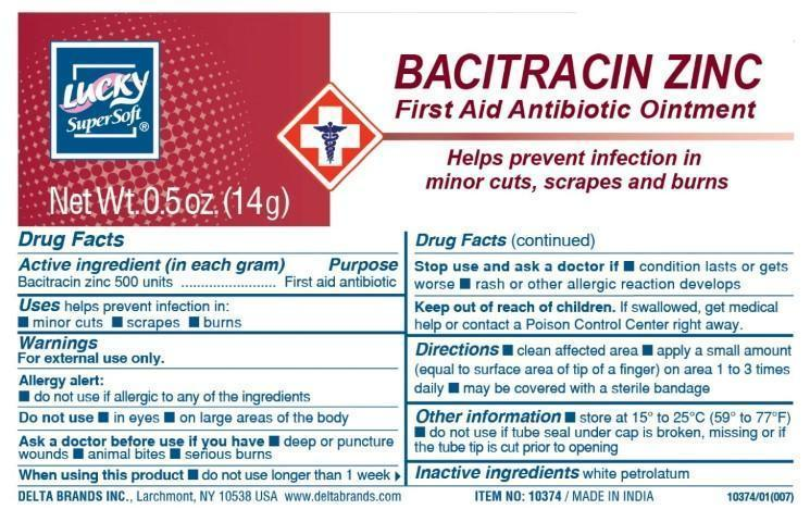 Lucky Supersoft First Aid (Bacitracin Zinc) Ointment [Delta Brands Inc]