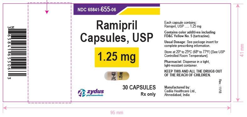 Ramipril Capsules, 1.25 mg