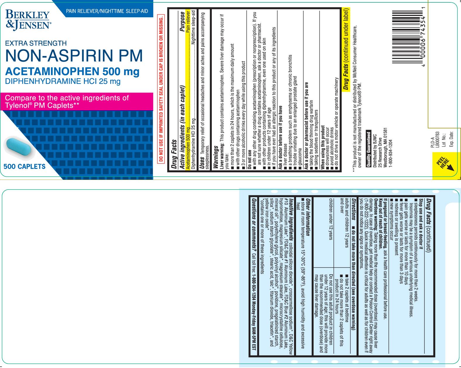 ACETAMINOPHEN 500 mg, DIPHENHYDRAMINE 25 mg