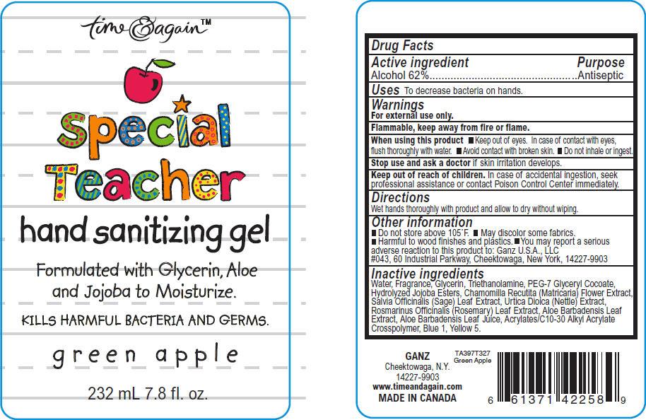 Hand Sanitizing (Alcohol) Gel [Ganz U.s.a., Llc]