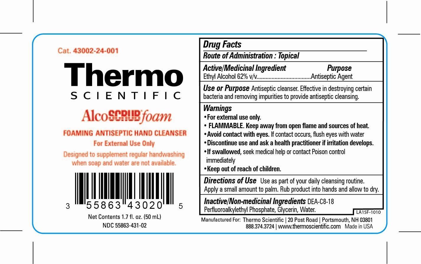 Alcoscrub Foam Liquid [Erie Scientific, Llc]