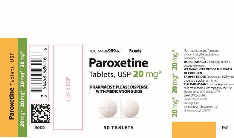 PAROXETINE TABELTS USP 10 MG