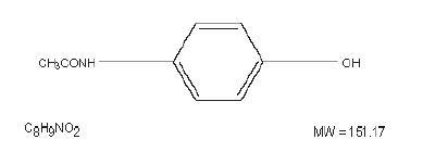 Acetaminophen Structural Formula