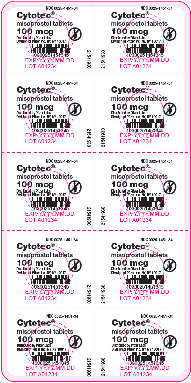 Cytotec (Misoprostol) Tablet [G.d. Searle Llc Division Of Pfizer Inc]