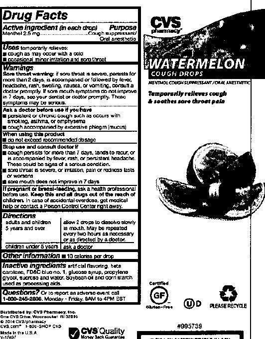 Cvs Watermelon Cough (Menthol) Lozenge [Cvs Pharmacy, Inc.]