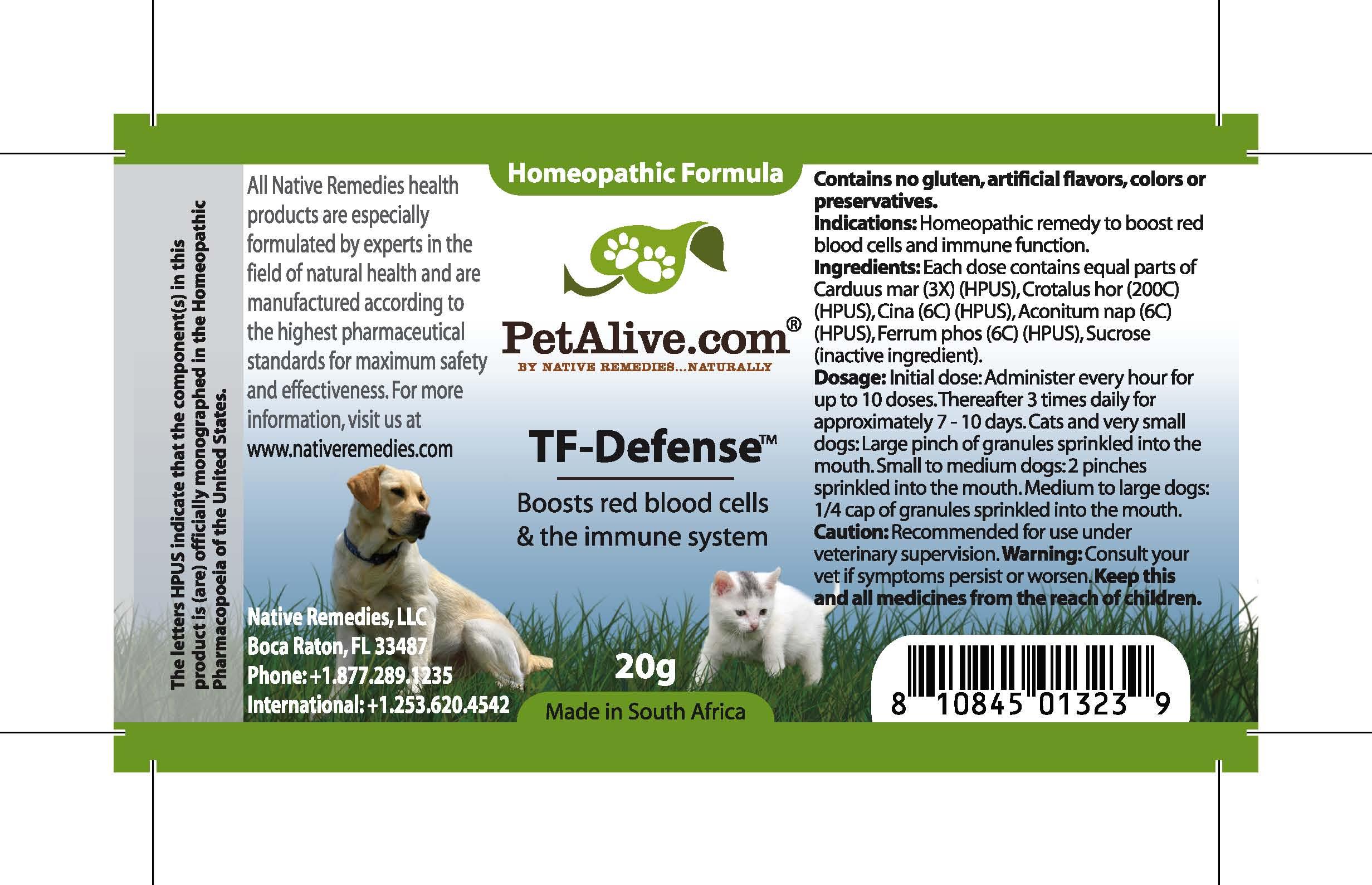 Tf Defense (Carduus Mar, Crotalus Hor, Cina , Aconitum Nap, Ferrum Phos ) Granule [Feelgood Health]