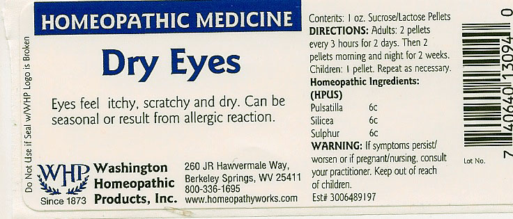Dry Eyes (Pulsatilla Vulgaris – Silicon Dioxide – Sulfur) Pellet [Washington Homeopathic Products]