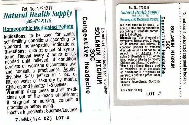 Congestive Headache (Solanum Nigrum Top) Pellet [Natural Health Supply]