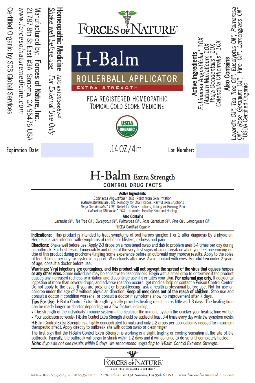 H-balm Control (Calendula Officinalis Flowering Top, Echinacea, Sodium Chloride, And Thuja Occidentalis Leafy Twig) Solution/ Drops [Forces Of Nature]