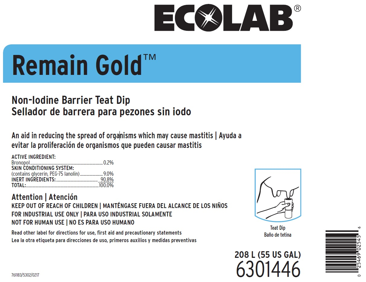 Remain Gold (Bronopol) Solution [Ecolab Inc.]