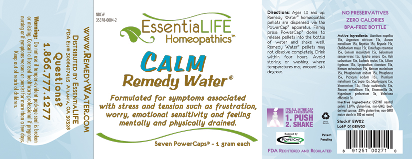 Calm Water Label