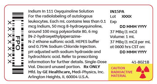 Indium In 111 Oxyquinoline (Indium In-111 Oxyquinoline) Solution [Medi-physics Inc. Dba Ge Healthcare.]