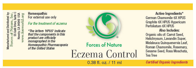 Eczema Control (Chamomile, Graphite, And Hypericum Perforatum) Solution/ Drops [Forces Of Nature]