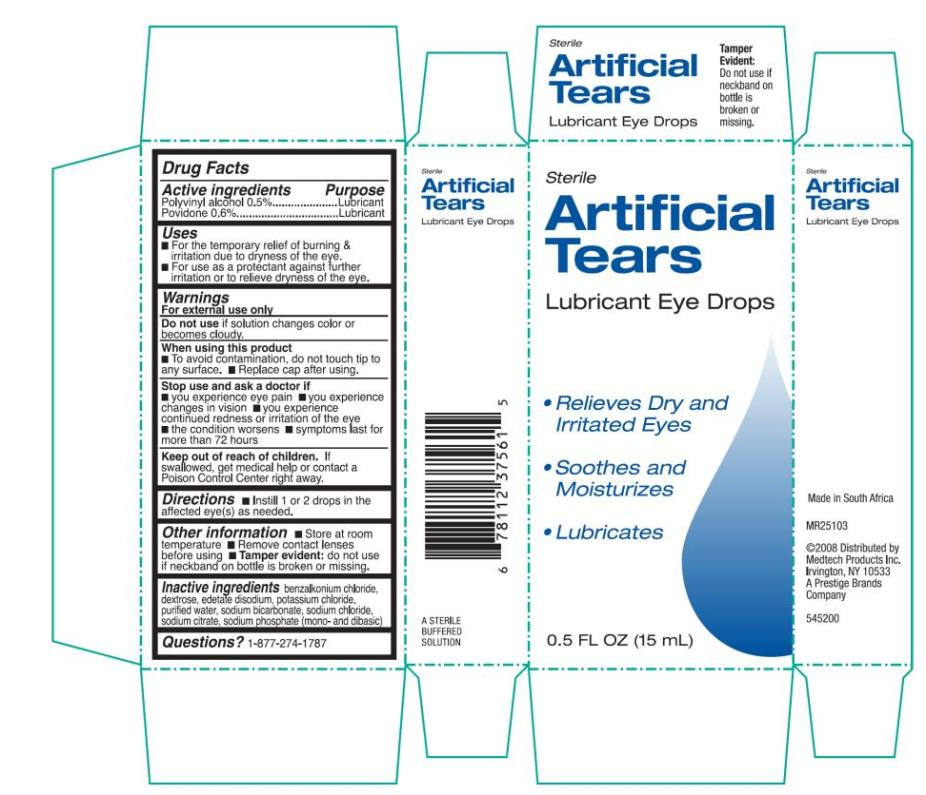 Artificial Tears Lubricant Eye (Polyvinyl Alcohol And Povidone) Liquid [Prestige Brands Holdings, Inc.]