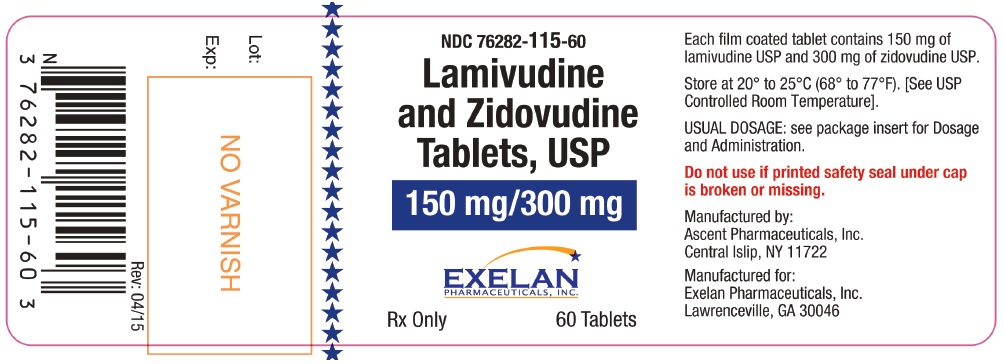Lamivudine And Zidovudine Tablet, Film Coated [Exelan Pharmaceuticals Inc.]
