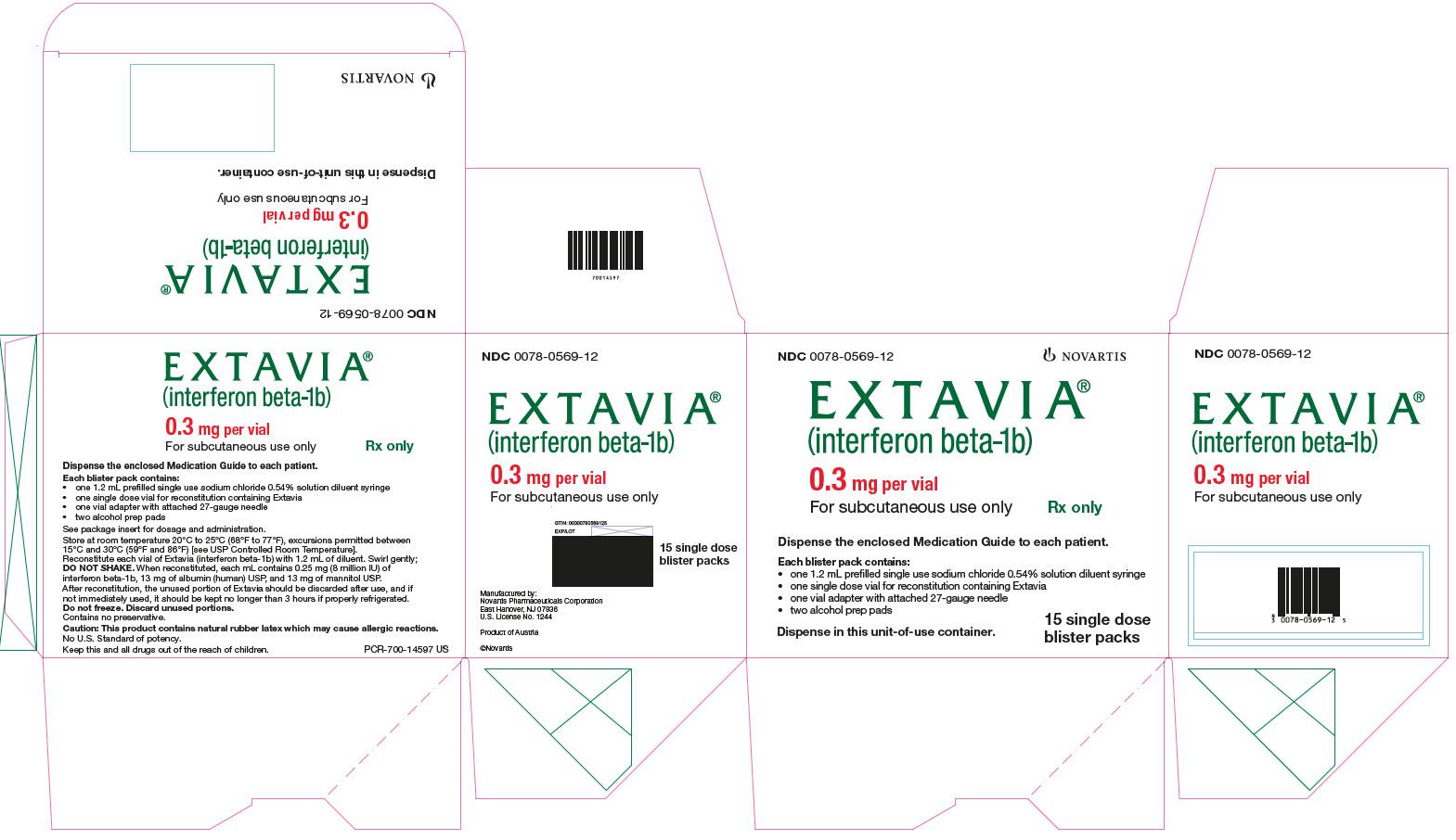 Extavia (Interferon Beta-1b) Kit [Novartis Pharmaceuticals Corporation]
